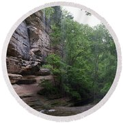 Lasalle Canyon Starved Rock State Park Round Beach Towel