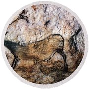 Lascaux: Running Deer Round Beach Towel