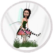 Lassnis The Forest Fairy Round Beach Towel