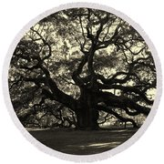 Last Angel Oak 72 Round Beach Towel