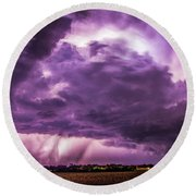 Last Chace Lightning For 2017 006 Round Beach Towel