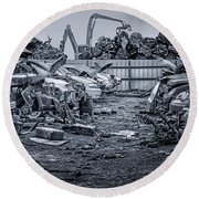 Last Journey - Salvage Yard Round Beach Towel
