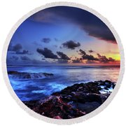 Last Light Round Beach Towel by Chad Dutson