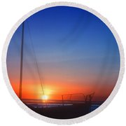 Last Light Round Beach Towel by Stephen Anderson