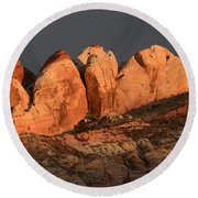 Last Light Valley Of Fire Round Beach Towel