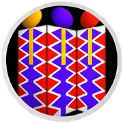 Last Of The Mohicans Round Beach Towel