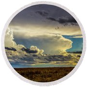 Last Storm Chase Of 2017 001 Round Beach Towel
