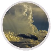 Last Storm Chase Of 2017 002 Round Beach Towel
