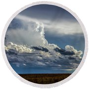Last Storm Chase Of 2017 004 Round Beach Towel