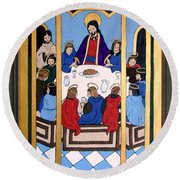 Last Supper Round Beach Towel