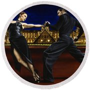 Last Tango In Paris Round Beach Towel