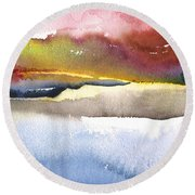 Late Afternoon 01 Round Beach Towel