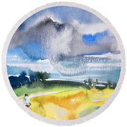 Late Afternoon 04 Round Beach Towel