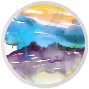 Late Afternoon 12 Round Beach Towel