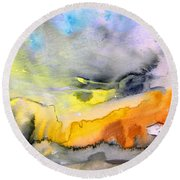 Late Afternoon 14 Round Beach Towel