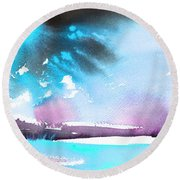 Late Afternoon 16 Round Beach Towel