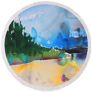 Late Afternoon 17 Round Beach Towel