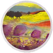 Late Afternoon 18 Round Beach Towel