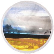 Late Afternoon 20 Round Beach Towel