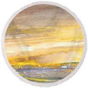 Late Afternoon 26 Round Beach Towel