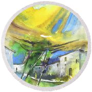 Late Afternoon 28 Round Beach Towel