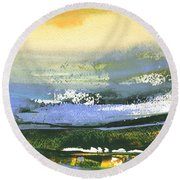Late Afternoon 33 Round Beach Towel