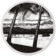 Late Afternoon At Dunk Island Round Beach Towel