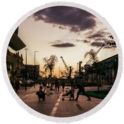 Late Afternoon. Round Beach Towel