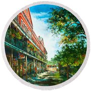 Late Afternoon On The Square Round Beach Towel