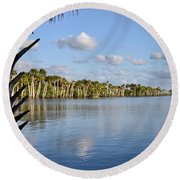 Late Afternoon Sunlight II Round Beach Towel
