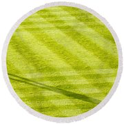 Late In The Day Shadow Round Beach Towel