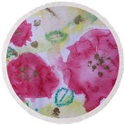 Late Summer Rose I Rosarie Round Beach Towel