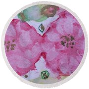 Late Summer Rose V Rosariet Round Beach Towel