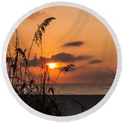 Late Sunrise 3 Round Beach Towel