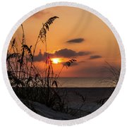 Late Sunrise Round Beach Towel