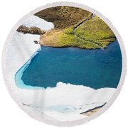 Late Thawing Tarn Round Beach Towel
