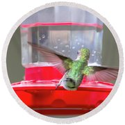 Later Hummingbird Round Beach Towel