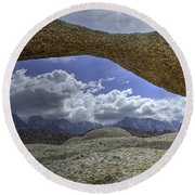 Lathe Arch Between Storms Round Beach Towel