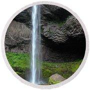 Latourell Falls, Oregon Round Beach Towel