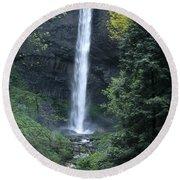 Latourelle Falls-columbia River Gorge Round Beach Towel