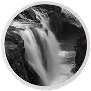 Laugafell Mountain Lodge Waterfalls Iceland 3146 Round Beach Towel