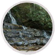 Laurel Falls 2 Round Beach Towel