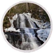 Laurel Falls In Gatlinburg Tennessee Round Beach Towel