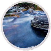 Laurel Flat, Nc - Waterfall Round Beach Towel