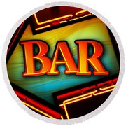 Laurettes Bar Round Beach Towel