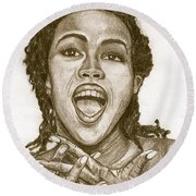 Lauryn Hill Round Beach Towel