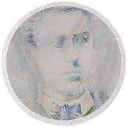 Lautreamont - Watercolor Portrait.3 Round Beach Towel