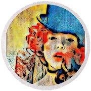 Lautrec Homage Round Beach Towel