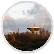 Lauttasaari Water Tower Round Beach Towel