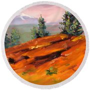 Lava Butte Round Beach Towel